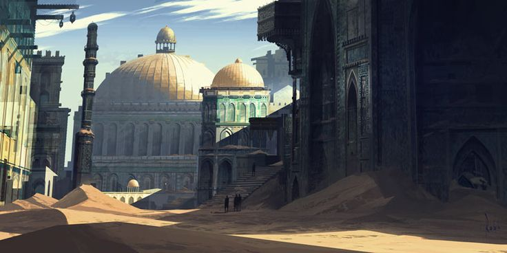 Uncharted concept art by robh. Presumably Iram of the Pillars. Correct me if I am wrong.