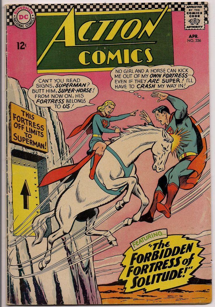 DC Action Comics #336 SUPERMAN SUPERGIRL Bizarro Krypton Phantom Zone Fortress of Solitude Curt Swan Jim Mooney Edmond Hamilton Otto Binder