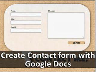Membuat form kontak dengan Google Docs bisa dikatakan tidak mudah. Untuk membuat Google Form dan untuk mengumpulkan tanggapan, Anda memerlukan akun Google. Ikuti langkah-langkah yang diberikan di bawah ini untuk membuat formulir kontak Anda sendiri dan memasangnya ke blog atau website Anda.