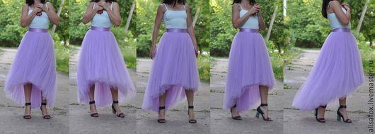 юбка из фатина сиреневый лавандовый купить 89267060998