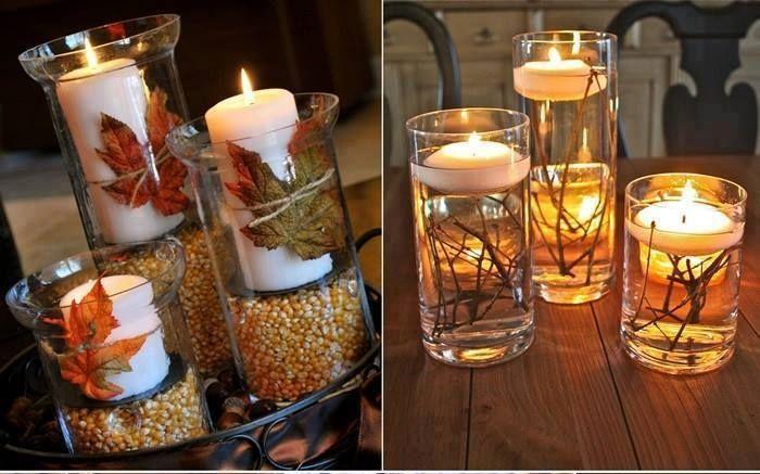 Come fare delle candele in stile autunnale