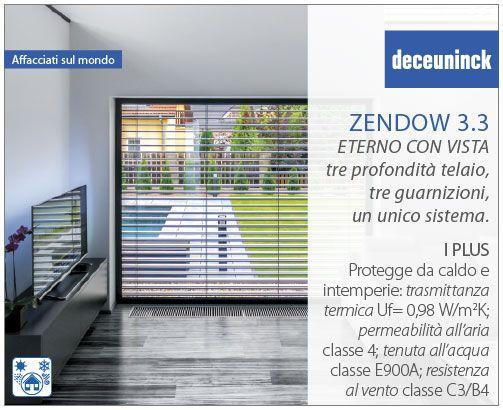 I plus di Zendow 3.3 2: Le finestre in PVC di Deceuninck ti proteggono dal #caldo, dal #freddo, dalle #intemperie. Valori: Trasmittanza termica: Uf= 0,98 W/m2K Permeabilità all'aria: classe 4 Tenuta all'acqua: classe E900A Resistenza al vento: classe C3/B4 #Deceuninck