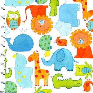 ABC Safari by Dianne Eichler | Studioe Fabrics - fun quilts to be made from this fabric