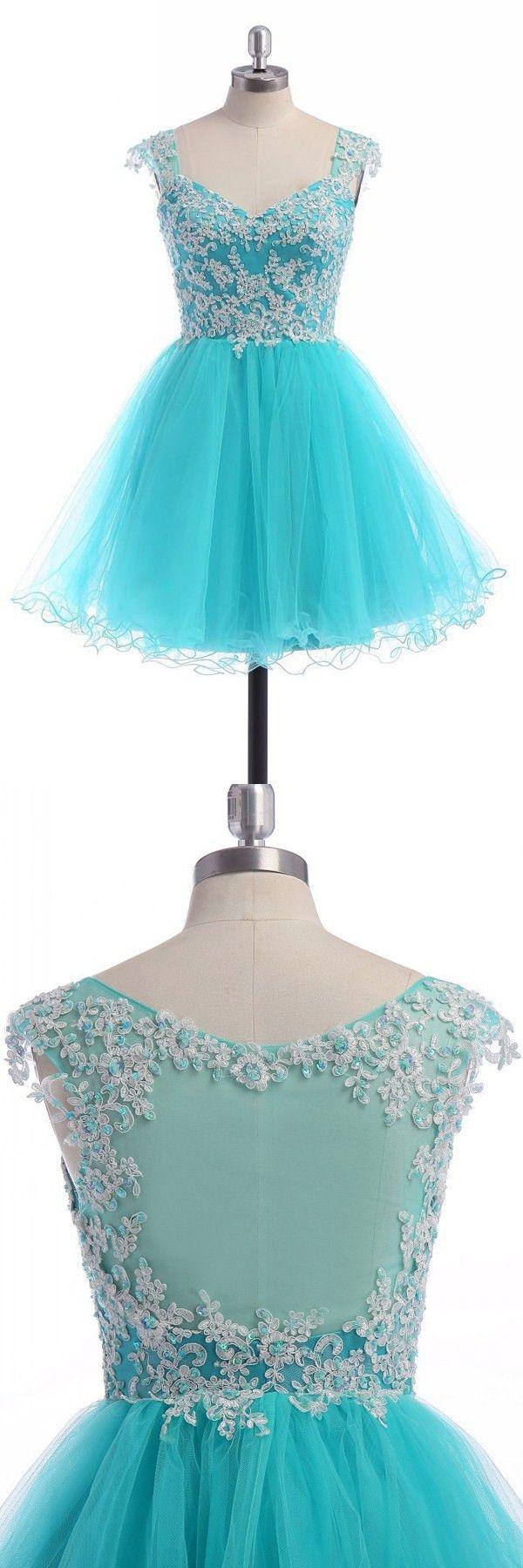 2016 homecoming dresses,homecoming dresses,cheap short prom dresses,blue illusion back hoco dresses,cheap lace short prom dresses