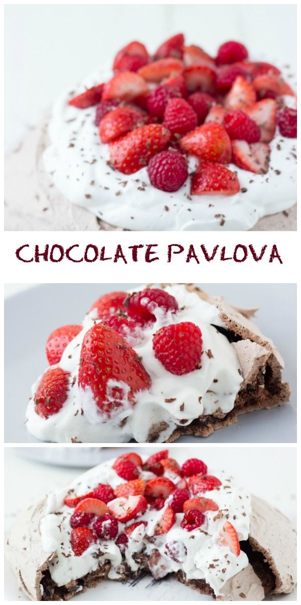 Chocolate Pavlova - crisp chocolate shell with a soft sweet chocolate center ~ http://blahnikbaker.com