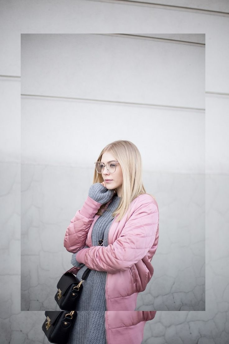 Pink bomber jacket   Pudrowa kurtka bomber