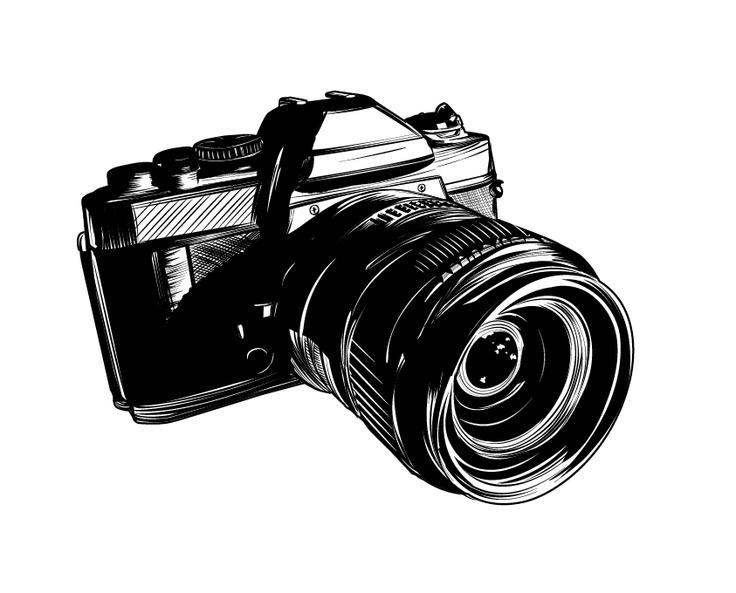 Фотоаппарат картинки черно-белые