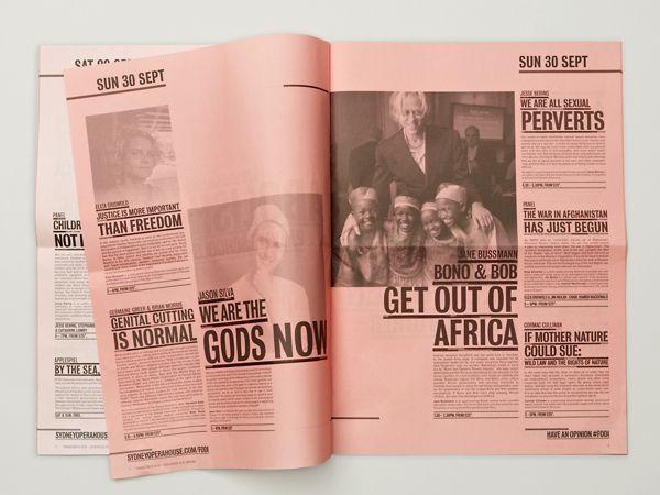 Festival of Dangerous Ideas 2011 & 2012 by Leah Procko, via Behance