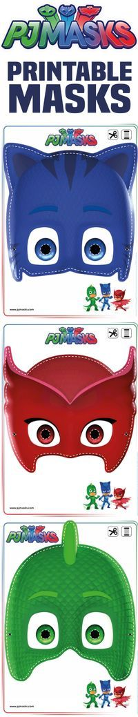 Printables - PJ Masks Owlette, Gekko, & Catboy Masks   All Mommy Wants