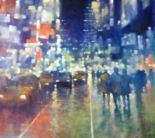 Manyung Gallery Group David  Hinchliffe Patchwork Cityscape
