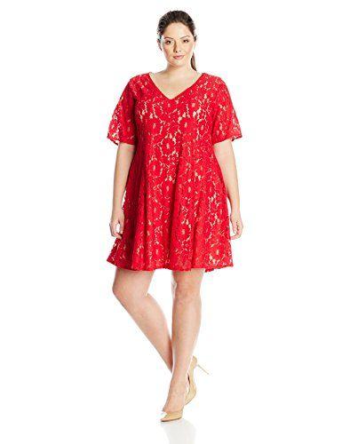 Julian Taylor Women's Plus-Size Trapeze Lace Dress Elbow Sleeve http://www.effyourbeautystandarts.com/julian-taylor-womens-plus-size-trapeze-lace-dress-elbow-sleeve/