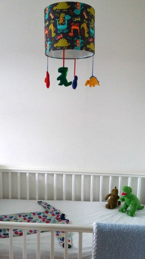 Dinosaur nursery lampshade Playroom decor Boy by mobilampshades