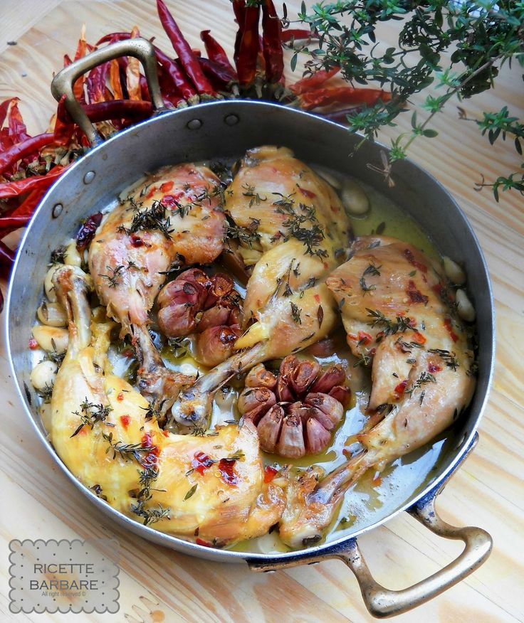 Ricette Barbare: Pollo al limone, timo e peperoncino or Roasted Chicken with lemon, thyme & chili
