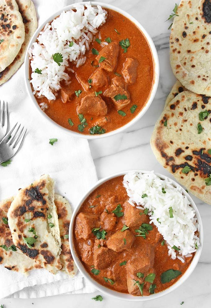 Healthy Slow Cooker Indian Butter Chicken | http://thekitchenpaper.com/healthy-slow-cooker-indian-butter-chicken/
