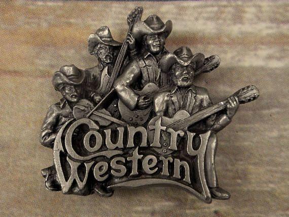 Country Western Belt Buckle Music Musicians Rockabilly Guitar