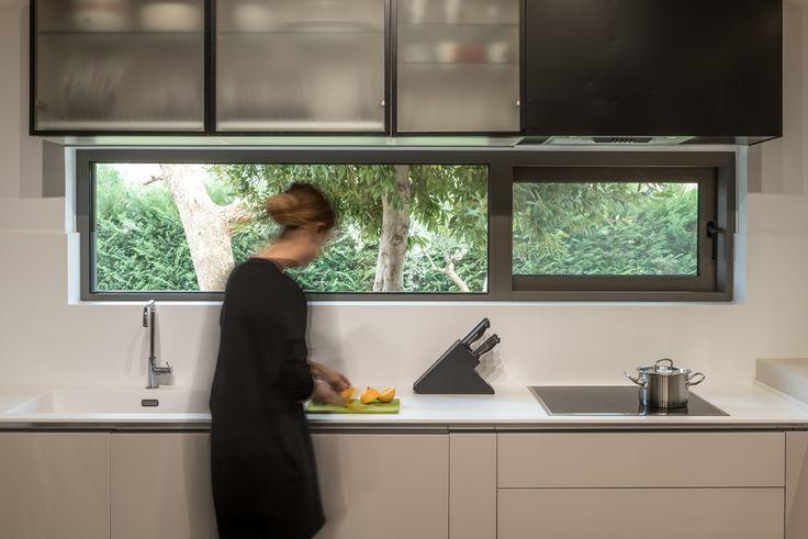 Kitchen design    Custom made glass cabinets #design #kitchen #sfakiannakisphotography