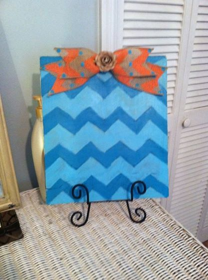Hey, I found this really awesome Etsy listing at https://www.etsy.com/listing/197881591/shabby-chic-chevron-picture-holder-with