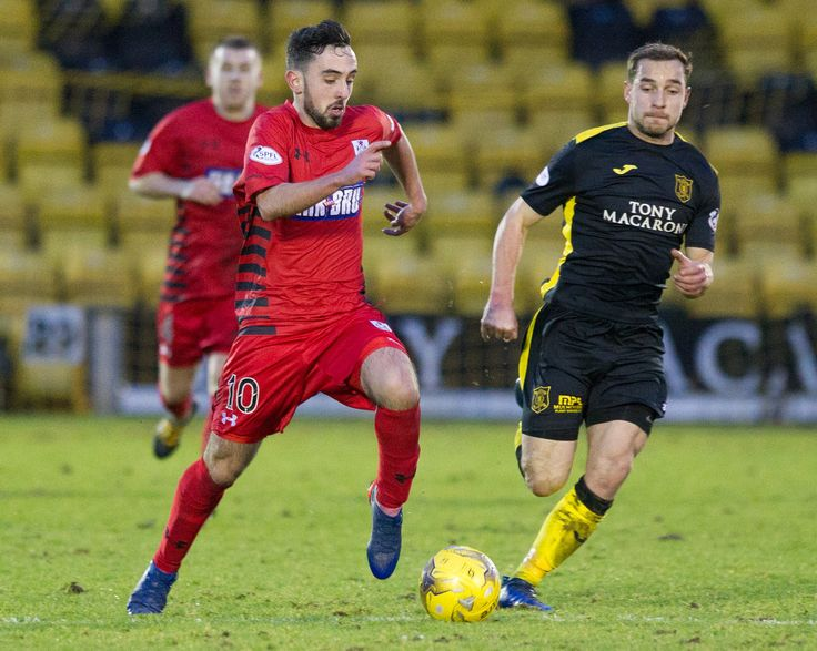 Queen's Park's Anton Brady in action during the Ladbrokes League One game between Livingston and Queen's Park.