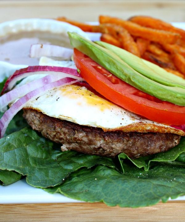 Quick Meal Series: Burgers with Egg and Garlic Butter Balsamic | Primally Inspired #21dsd
