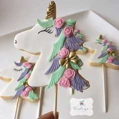 unicorn cookie on a stick. perfect for your next party