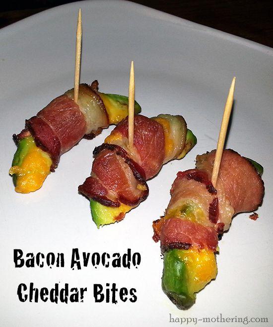 bacon avocado cheddar bites with a kick bacon avocado avocado recipes ...