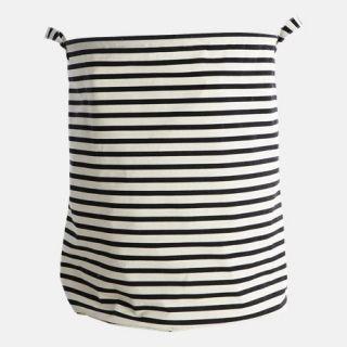 Aufbewahrung Wäschekorb Stripes black von house doctor