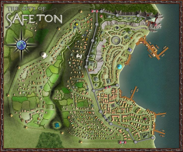 fantasy map maps town rpg medieval castle cartography cities cartographers guild