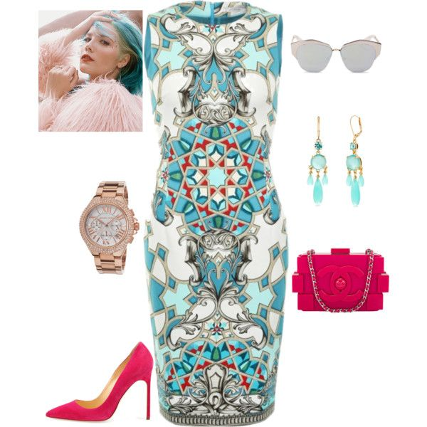 Ceramica by caterinami on Polyvore featuring moda, Versace, Manolo Blahnik, Chanel, Michael Kors, Kate Spade and Christian Dior