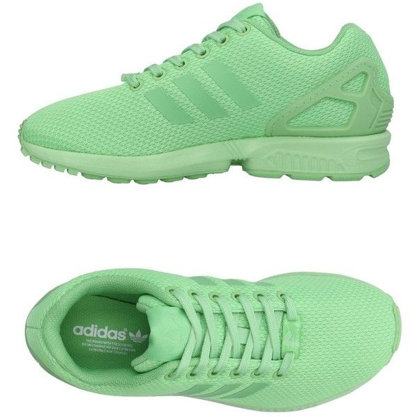 Adidas Originals Sneakers ($114) ❤ liked on Polyvore featuring shoes, sneakers, light green, adidas originals trainers, round toe shoes, adidas originals, adidas originals shoes and logo shoes