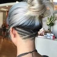Image result for long hair female undercuts