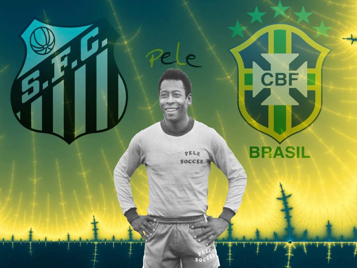 Pele - The King Brazilian Football Confederation Santos FC