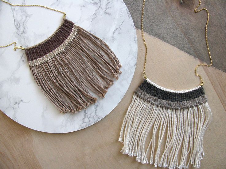 woven necklaces.