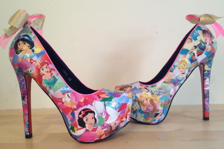 DIY Disney princess shoes