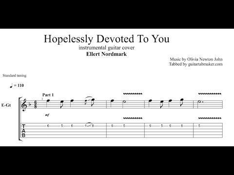 Ellert Nordmark - Hopelessly Devoted To You TAB - guitar instrumental - Guitar Pro TAB