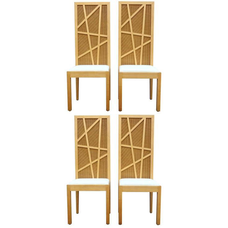 1stdibs.com | Sculptural Set of Four Laurinda Spear High Backed Dining Chairs, C. 1980