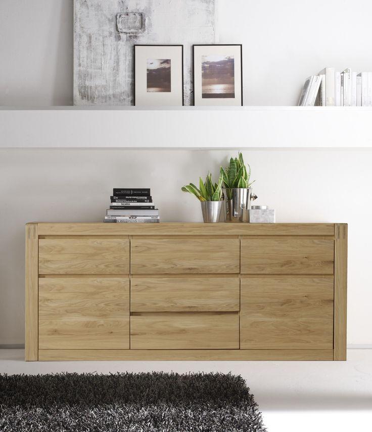 Sideboard Eiche Bianco Teilmassiv Woody 35-00200 Holz Modern Jetzt - wohnzimmer eiche weis