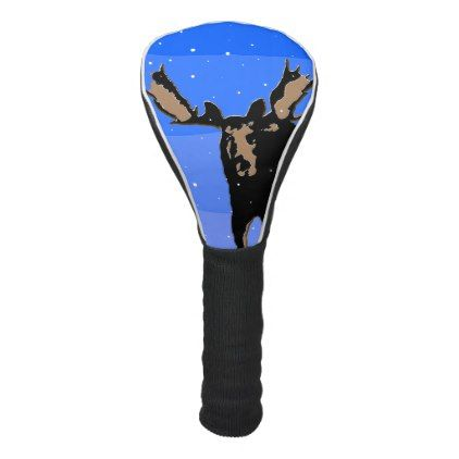 #Moose in Winter Golf Head Cover - #Xmas #ChristmasEve Christmas Eve #Christmas #merry #xmas #family #holy #kids #gifts #holidays #Santa