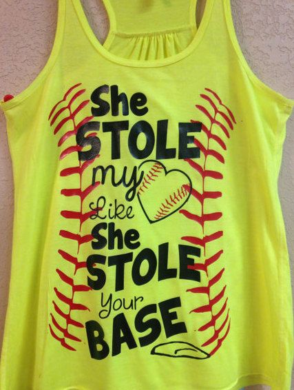 custom design softball tank by heresyoursignnshirt on etsy 1999 - Softball Jersey Design Ideas