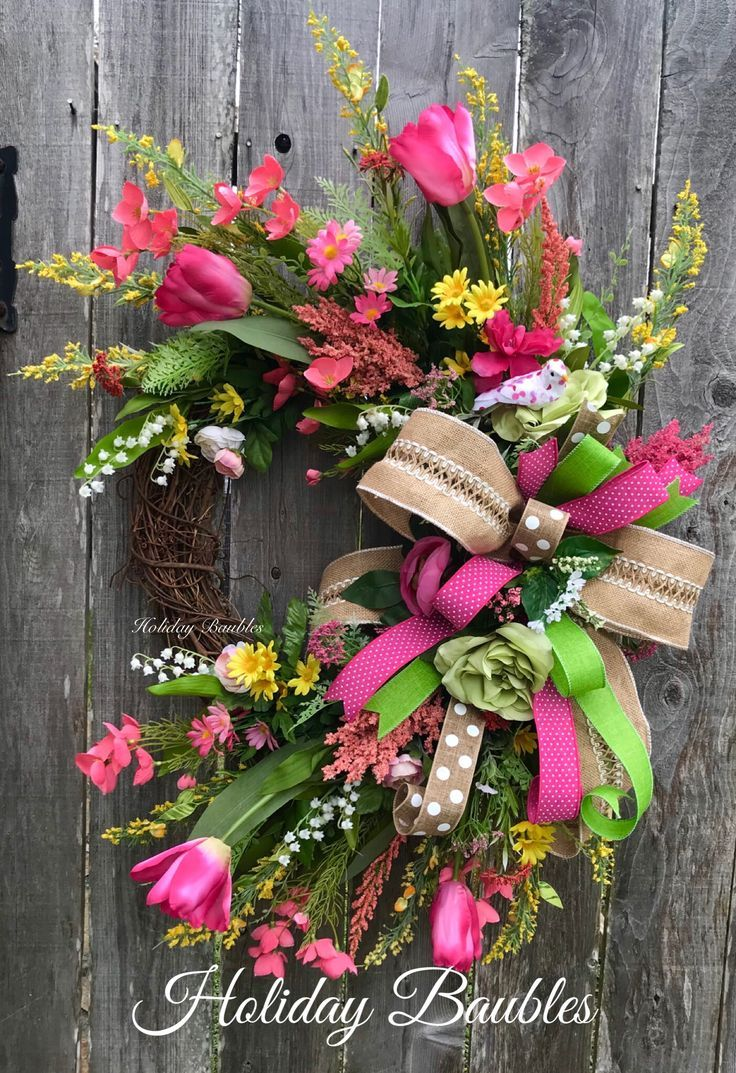 Spring Grapevine Easter Spring Wreath Wreath Decor Spring Wreath