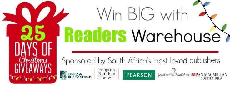 Reader's Warehouse and South Africa's most loved publishing houses have teamed up to bring you a Christmas countdown like you've never seen! 25 Days of Giving with 25 incredible Hampers to be won. Go on, they could be yours: http://www.readerswarehouse.co.za/t/25%20Day%20of%20Giving