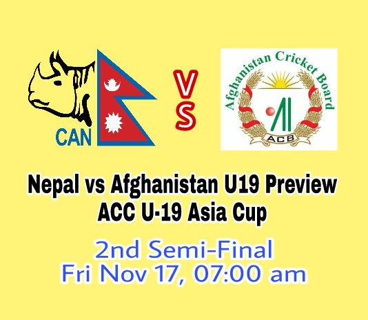 Nepal vs Afghanistan U19 Preview, Probable Playing XI and Dream11 Cricket Team Prediction. We cover NP-Y vs AF-Y Preview, Probable Playing XI.