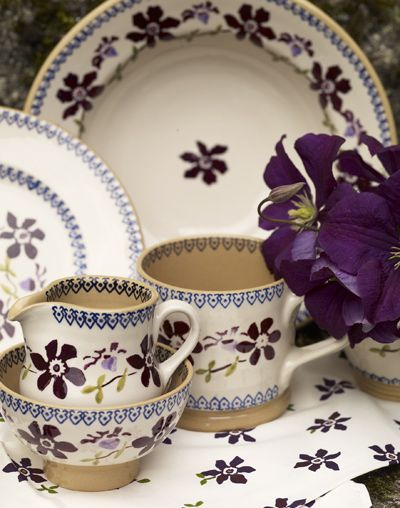 Nicholas Mosse Pottery & Dinnerware, handmade in County Kilkenny, Ireland. Nicholas Mosse's earthenware is made from Irish clay, fired with home grown Irish waterpower and decorated with traditional motifs inspired by old Irish spongeware.