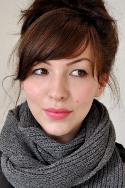 keiko lynn's hair.  love her blog, and her bangs are the bangin'est!  but she's got killer brows, I do not.