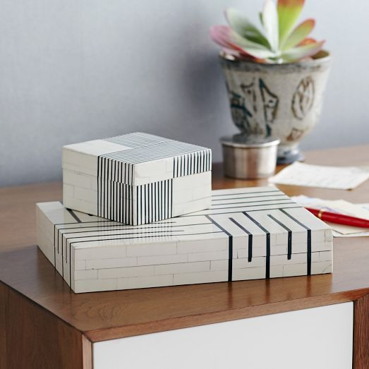 Black And White Decorative Boxes 44 Best Boxes  Jewelry Storage Images On Pinterest  Decorative