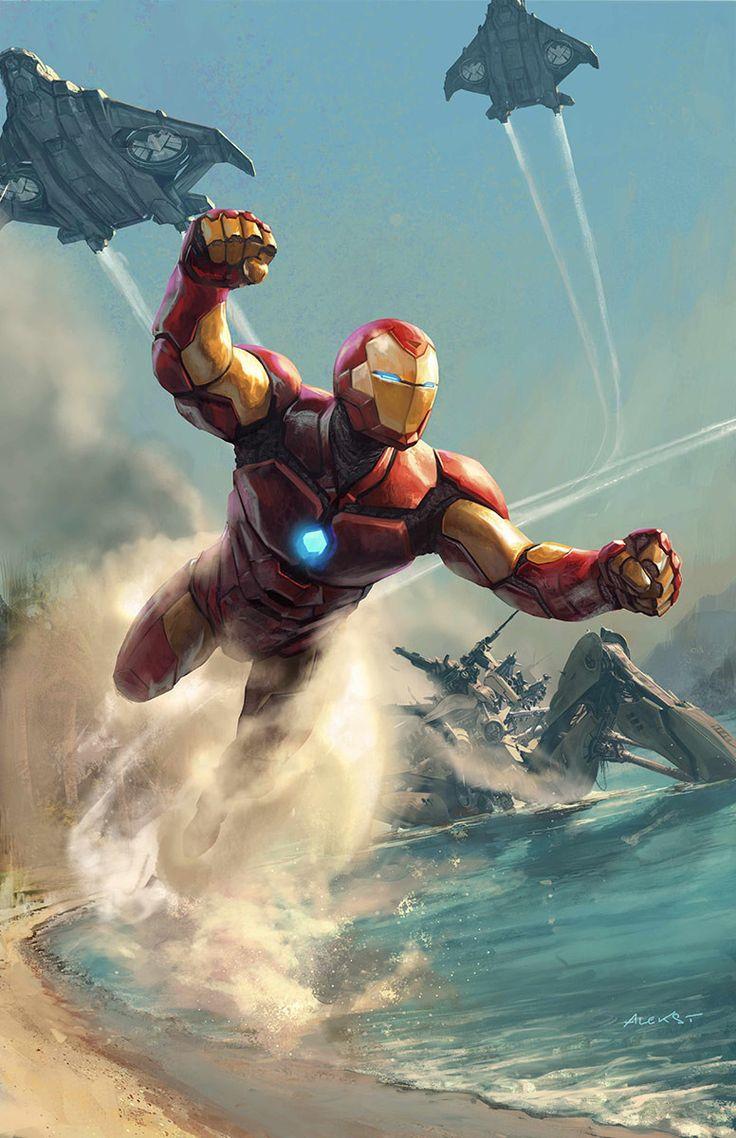 Invincible Iron Man, Aleksi Briclot on ArtStation at https://www.artstation.com/artwork/invincible-iron-man-1