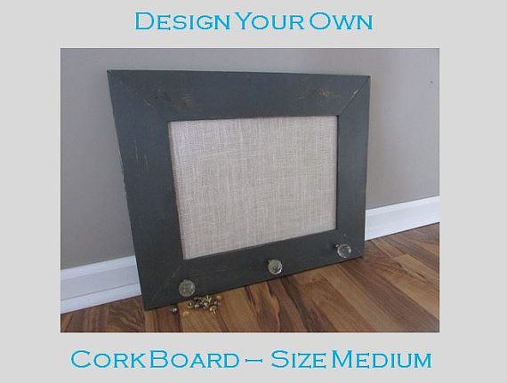 design your own cork board size medium custom distressed framed cork board size
