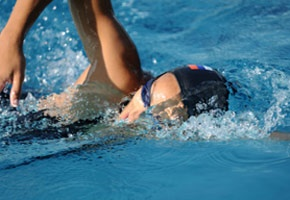 Open water swim workouts in Pool