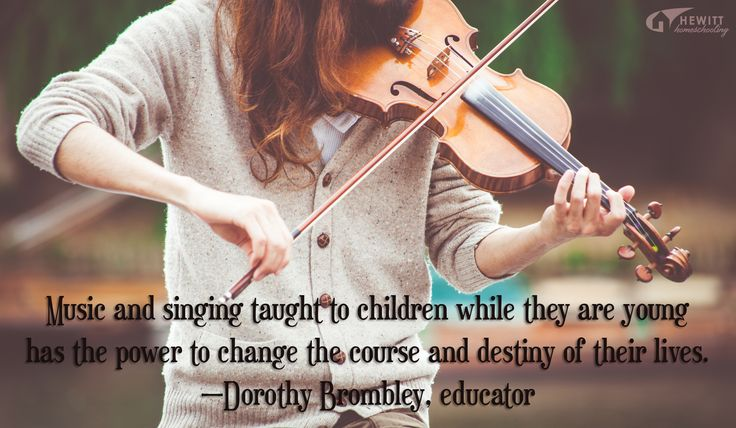 """""""Music and singing taught to children while they are young has the power to change the course and destiny of their lives."""" —Dorothy Brombley, educator"""