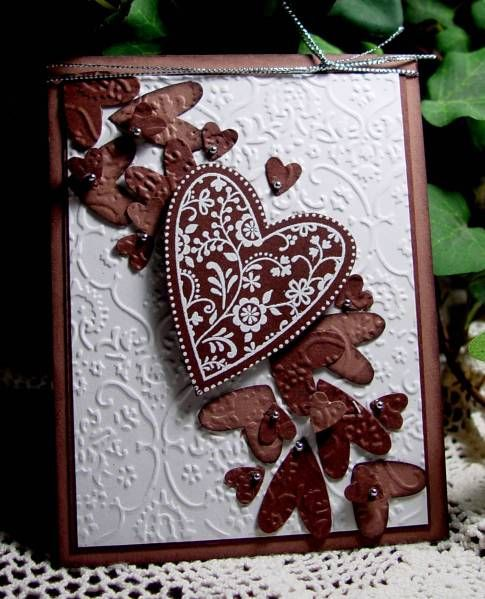 """Chocolate """"Falling For You"""" Valentine Card...patsmethers - Cards and Paper Crafts at Splitcoaststampers."""