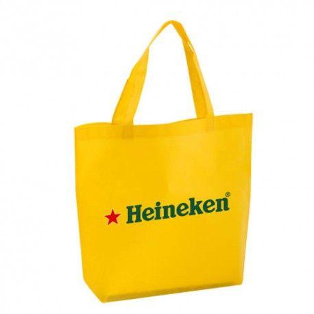 Bolsa shopper de non woven con publicidad.